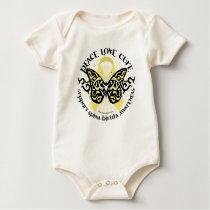 Spina Bifida Tribal Butterfly Baby Bodysuit