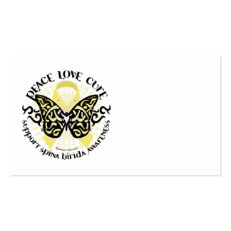 Spina Bifida Tribal Butterfly Business Card Templates
