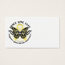Spina Bifida Tribal Butterfly Business Card