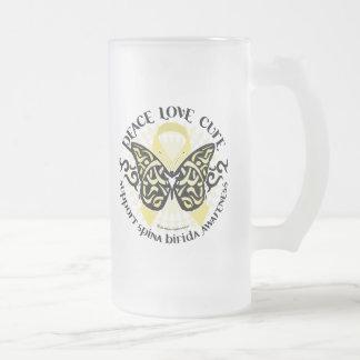 Spina Bifida Tribal Butterfly Coffee Mug