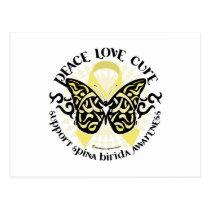 Spina Bifida Tribal Butterfly Postcard