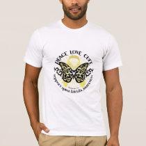 Spina Bifida Tribal Butterfly T-Shirt