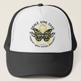 Spina Bifida Tribal Butterfly Trucker Hat