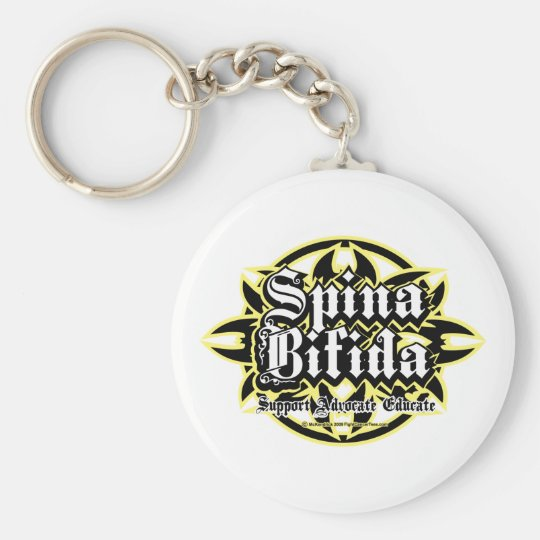 Spina Bifida Tribal Keychain