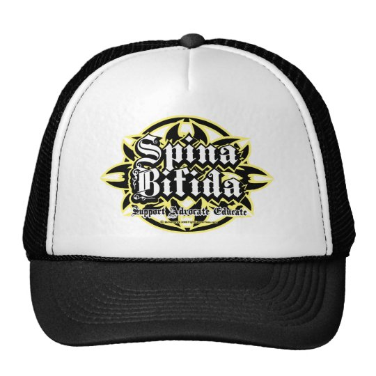 Spina Bifida Tribal Trucker Hat