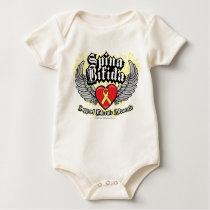 Spina Bifida Wings Baby Bodysuit