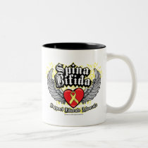 Spina Bifida Wings Two-Tone Coffee Mug
