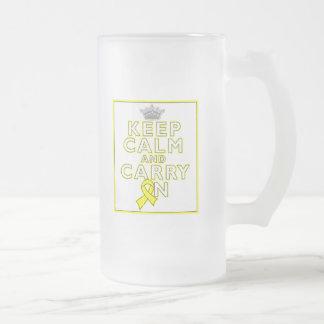 Spina bífido guarda calma y continúa tazas de café