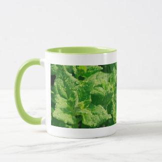 Spinach and raindrops mug