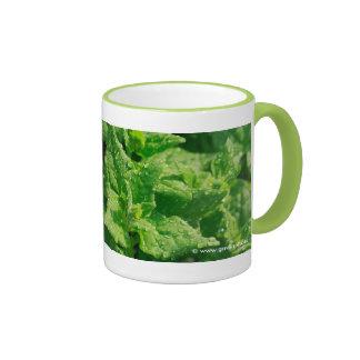 Spinach and raindrops ringer mug