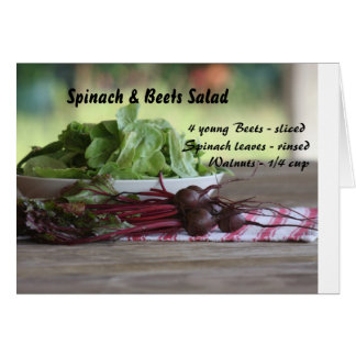 Spinach & Beets Salad Card
