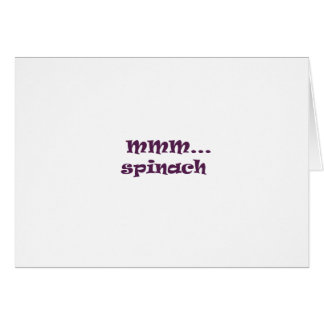 spinach greeting card