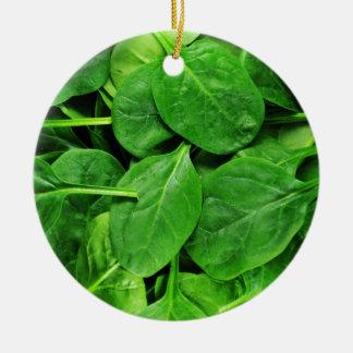 Spinach Ceramic Ornament