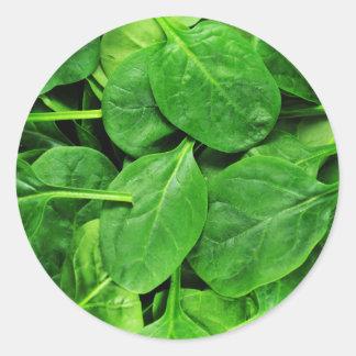 Spinach Classic Round Sticker