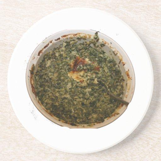spinach dip photo design image beverage coasters