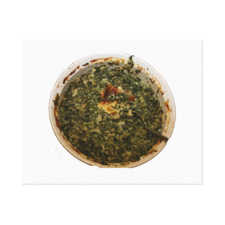 spinach dip photo design image canvas print