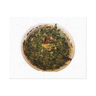 spinach dip photo design image canvas print