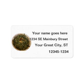 spinach dip photo design image custom address label