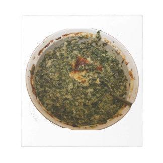 spinach dip photo design image memo notepad
