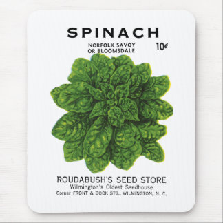 Spinach Seed Packet Label Mouse Pad