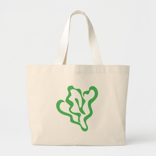Spinach Vegetable Icon Large Tote Bag