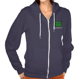Spinal Chord Injury Butterfly Awareness Ribbon Hoodie