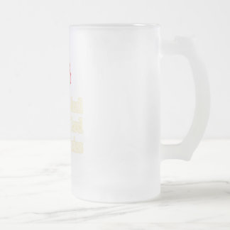 Spinal Cord Injuries Frosted Glass Beer Mug