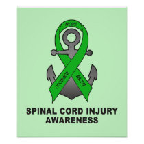 Spinal Cord Injury Anchor of Hope Poster