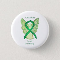 Spinal Cord Injury Angel Awareness Ribbon Pins