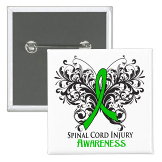 Spinal Cord Injury Awareness 2 Inch Square Button