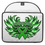 Spinal Cord Injury Awareness Heart Wings Sleeve For MacBooks