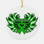 Spinal Cord Injury Awareness Heart Wings Ornaments