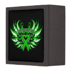 Spinal Cord Injury Awareness Heart Wings Premium Jewelry Box
