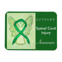 Spinal Cord Injury Awareness Ribbon Angel Magnet
