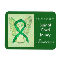 Spinal Cord Injury Awareness Ribbon Angel Magnets