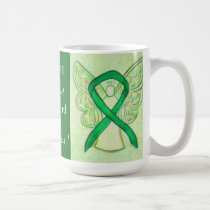 Spinal Cord Injury Awareness Ribbon Angel Mug