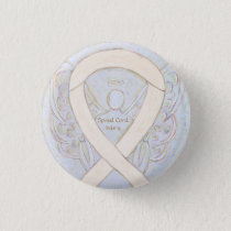 Spinal Cord Injury Awareness Ribbon Angel Pin