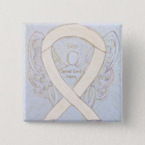 Spinal Cord Injury Awareness Ribbon Angel Pin