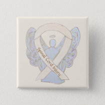 Spinal Cord Injury Awareness Ribbon Angel Pins