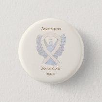 Spinal Cord Injury Awareness Ribbon Angel Pins