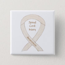 Spinal Cord Injury Awareness Ribbon Button Pins