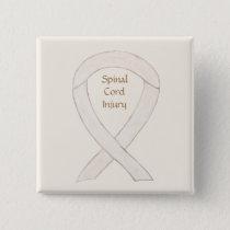 Spinal Cord Injury Awareness Ribbon Button Pins