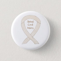 Spinal Cord Injury Awareness Ribbon Custom Button