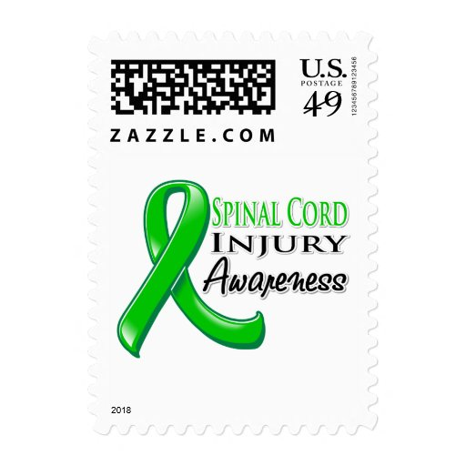 Spinal Cord Injury Awareness Ribbon Postage Stamp