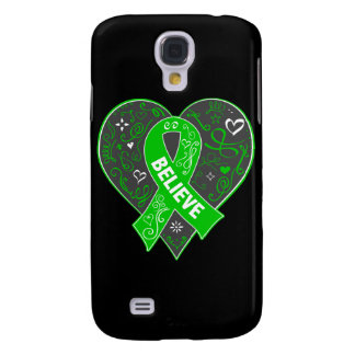 Spinal Cord Injury Believe Ribbon Heart Galaxy S4 Cases