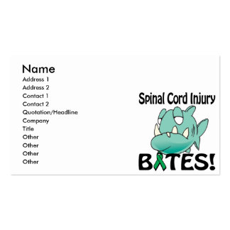 Spinal Cord Injury BITES Business Card Templates
