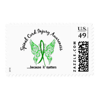 Spinal Cord Injury Butterfly 6.1 Postage Stamp