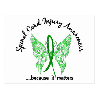 Spinal Cord Injury Butterfly 6.1 Postcard