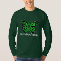 Spinal Cord Injury Butterfly Awareness Ribbon T-Shirt