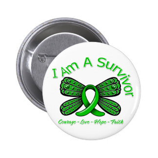 Spinal Cord Injury Butterfly I Am A Survivor Button